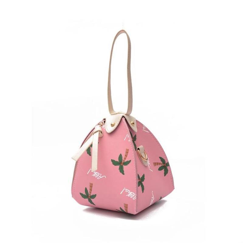 ef372b562bcb Designer Handbags Women Bags Printed Triangle Lantern Pocket Handbag PU  Lady Bag Luxury Handbags Purses New Arrival Hot Sale 3 Flower Color Leather  Purse ...