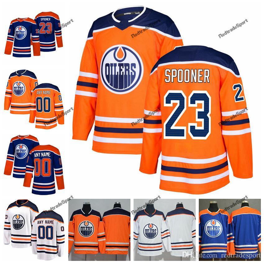 newest d89c3 febdf 2019 Customize Edmonton Oilers Ryan Spooner Hockey Jerseys Alternate Mens  New Blue Orange 23 Ryan Spooner Stitched Jerseys Shirts S-XXXL
