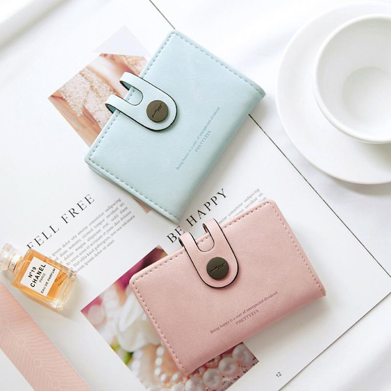 Brand New Fashion Women Mini Porta Carte Didentità Pu In Pelle Hasp Porta Carte Di Credito Porta Biglietti Da Visita Porta Carte