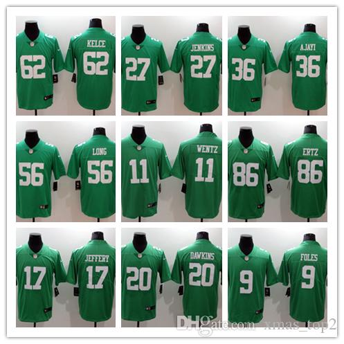 Mens Philadelphia Eagles Football Jersey 9 Foles 11 Wentz 86 Ertz 17  Jeffery 27 Jenkins 20 Dawkins 36 Westbrook 62 Kelce 56 Long 86 Ertz Wedding  Party ... 307053652