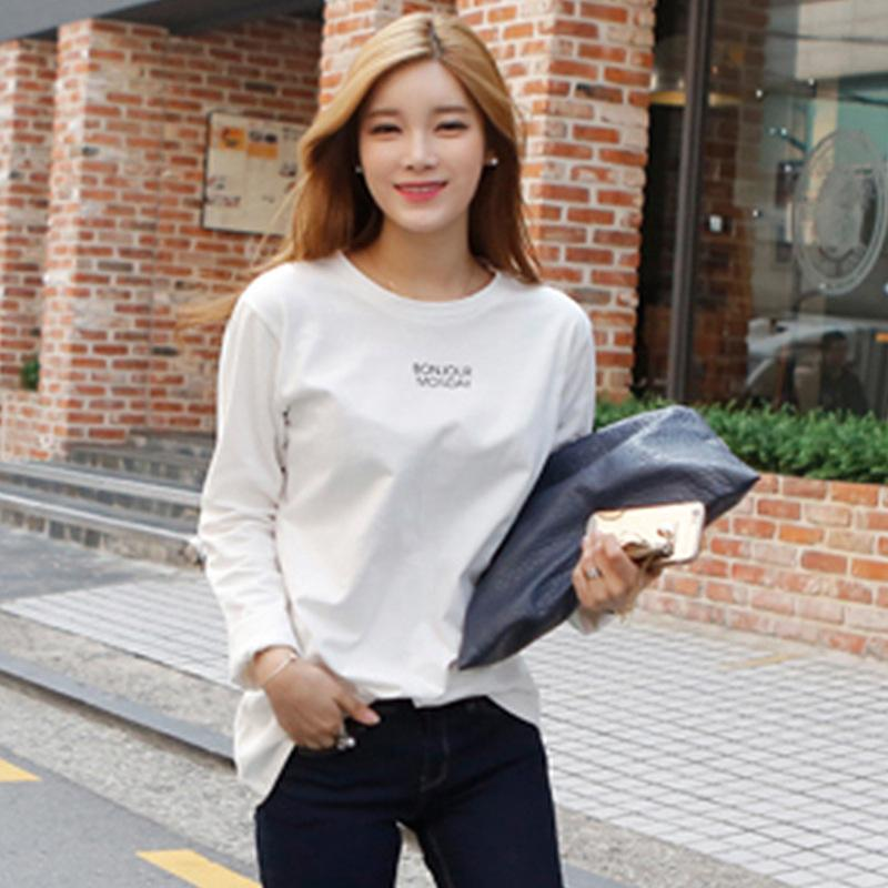 Pop2019 Pity T Donna Easy Thin Jacket Lettera piccola Pure Cotton Rendering Shan Weiyi
