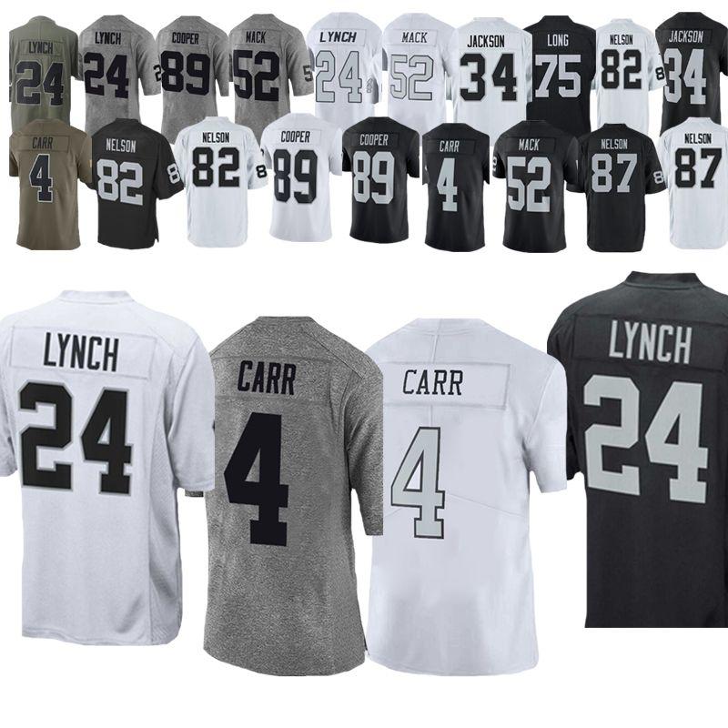 best sneakers 1e760 1baf1 4 Derek Carr Jerseys 24 Marshawn Lynch Football Jerseys 84 Antonio Brown  Oakland Jersey Rainders 89 Amari Cooper 34 Bo Jackson