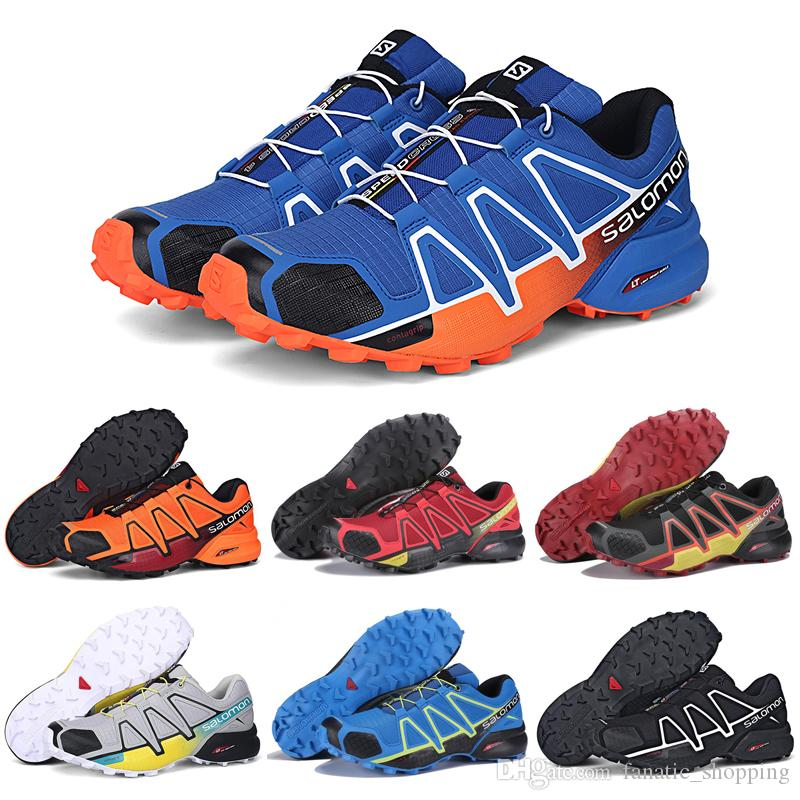 0b3c61b2ae0 Compre Salomon Speedcross 4 IV CS Trail Zapatos Para Correr Negro Naranja  Azul Velocidad Cruz 4 Mujeres Entrenador Para Hombre Deportes Al Aire Libre  ...