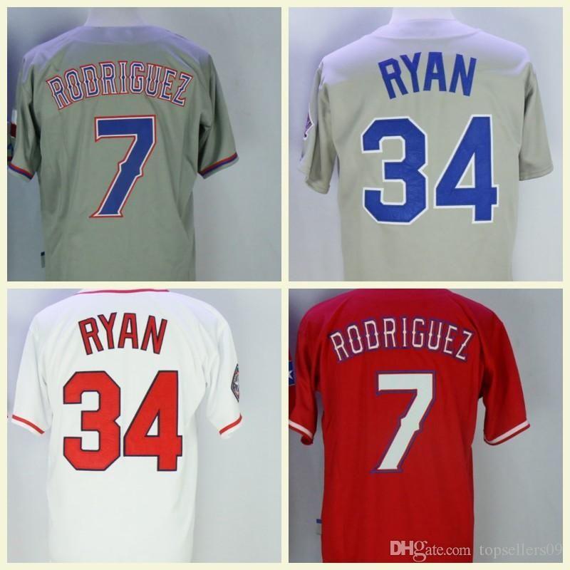 feee39997 2019 Men Jersey 34 Nolan Ryan 25 Jonathan Lucroy Retro Mesh 7 Ivan  Rodriguez Baseball Jerseys From Top jerseys168