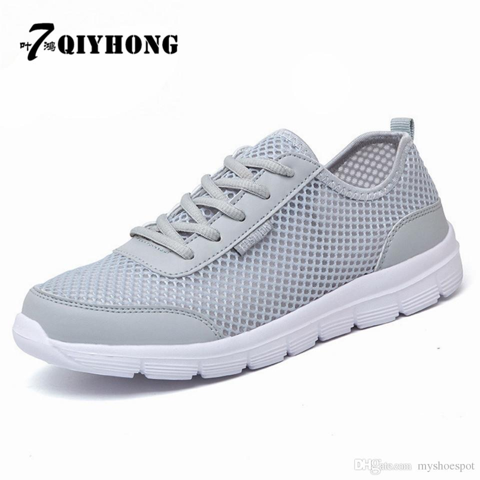 cdef72418f9a Men Shoes 2017 Summer Fashion Breathable Men Casual Shoes Lace Up High  Quality Couple Flat Mesh Plus Size 35 48  183838 Geox Shoes Cheap Shoes For  Women ...