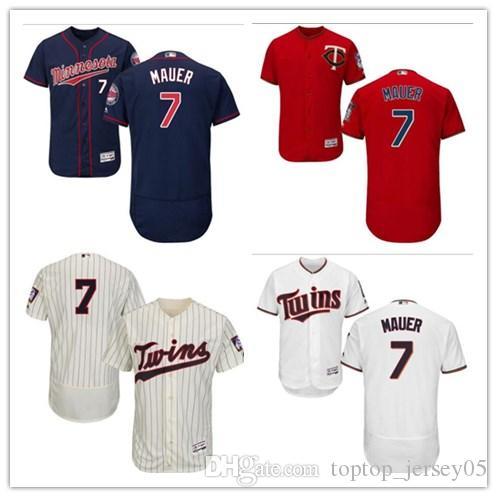 40b531145d3 2018 can Minnesota Twins Jerseys #7 Joe Mauer Jerseys men#WOMEN#YOUTH#Men's Baseball  Jersey Majestic Stitched Professional sportswear