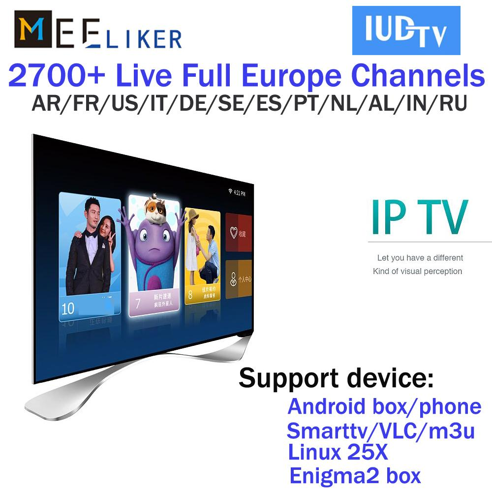 1year 2700 European iudtv IPTV streaming channels iptv apk for android box  m3u E2 mag 322 254 arabic sweden Albanian USA iptv account