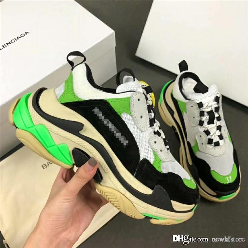 4b5eea7b9be0 New Rare NO.1Balenciaga Triple S X MR PORTER EXCLUSIVE NEON GREEN Trainer  Sneaker With Box Online with  191.62 Pair on Newhlstore s Store