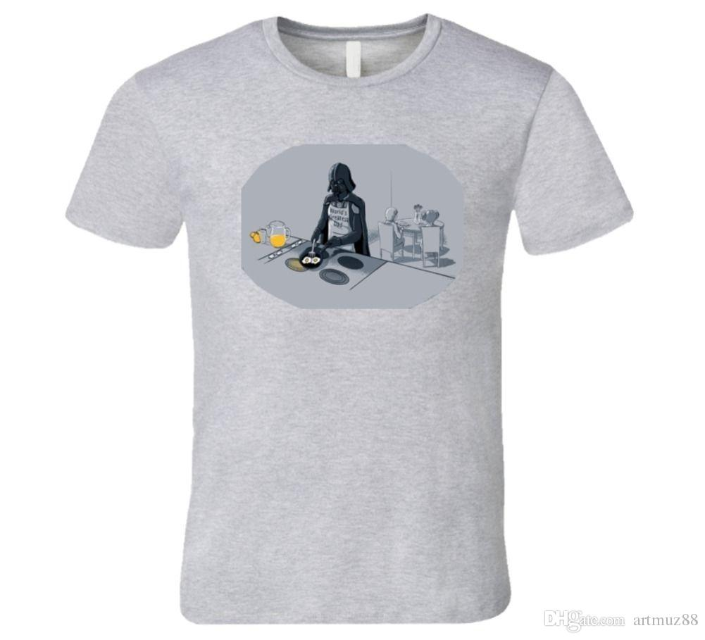 f7ff39e3 WORLD'S BEST DAD, FUNNY DARTH VADER, HAN SOLO FAMILY BREAKFAST T Shirt