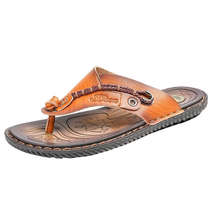 89871fc5f470 SIKETU Men S Casual Flat Sandals Summer Beach Sandals Outdoor Skid Shoes Flip  Flops Slippers Men Shoes Comfortable Footwear A30 Ladies Footwear Fashion  ...