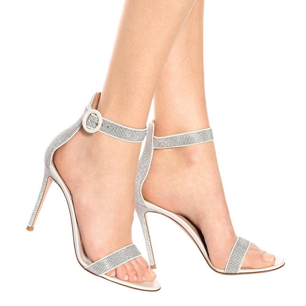 Mujeres De Palabra Súper Personalizadas Con Blanco Sandalias Alto Elegante Tacón Calientes Moda Zapatos Nueva Señora Boda 2019 K1lFJTc3