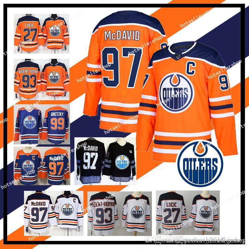 Compre Nhl Edmonton Oilers Camisetas De Hockey 97 Connor McDavid 93 Ryan  Nugent Hopkins 33 Cam Talbot 99 Wayne Gretzky Retro A  31.72 Del ... 1a3c91e58b3