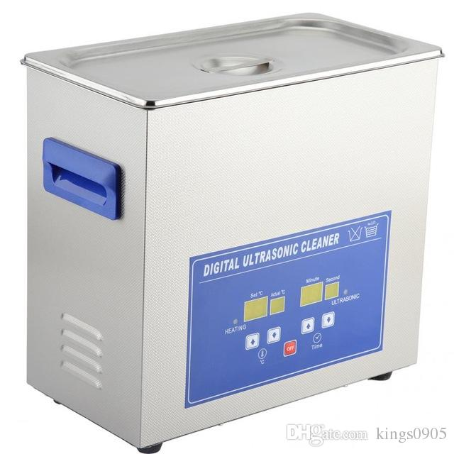 Household Digital Ultrasonic Cleaner Stainless Steel Bath Degas Ultrasound Cleaning for Watches Jewelry EU 220-240V