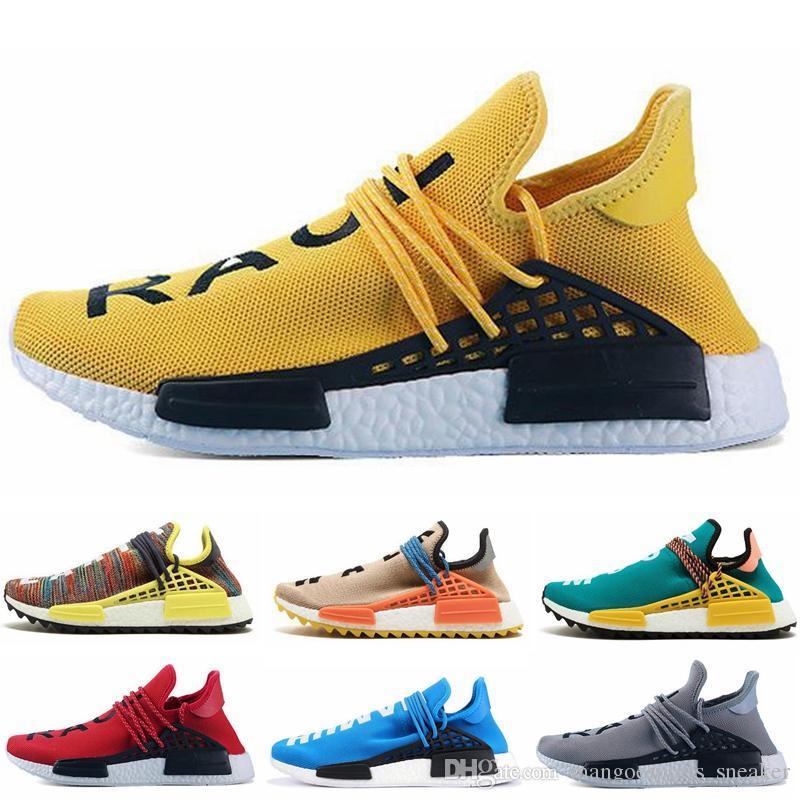pretty nice 211a4 42921 Green Nerd Heart Mind Human Race Running Shoes Homecoming Solar Pack HU nmd  Pharrell Williams Trail Trainers Men Women Runner Sneakers