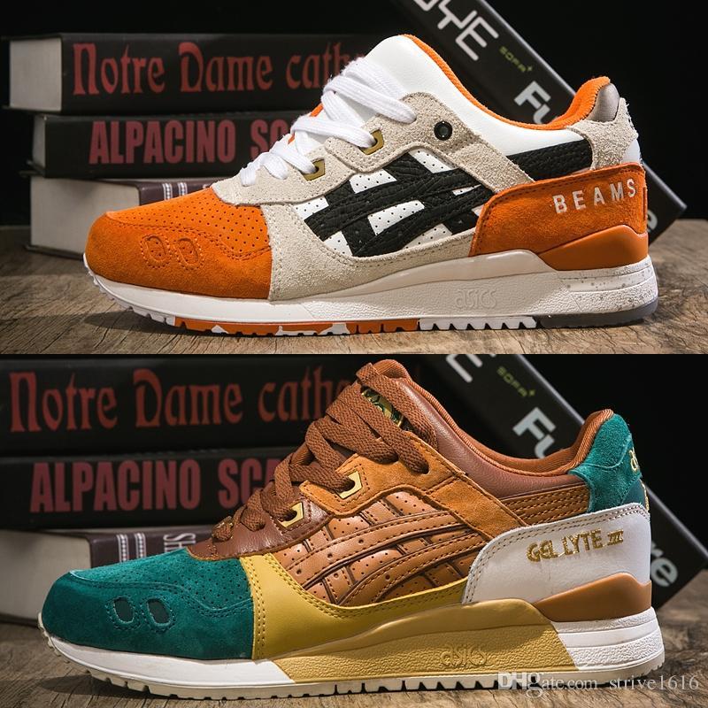 size 40 284aa 51f72 Acheter 2019 Asics Gel Lyte III Orange Koi Hommes Femmes Chaussures De  Course Top Qualité 3 Créateur De Mode Sneakers Sport Chaussures Taille 36  44 De ...