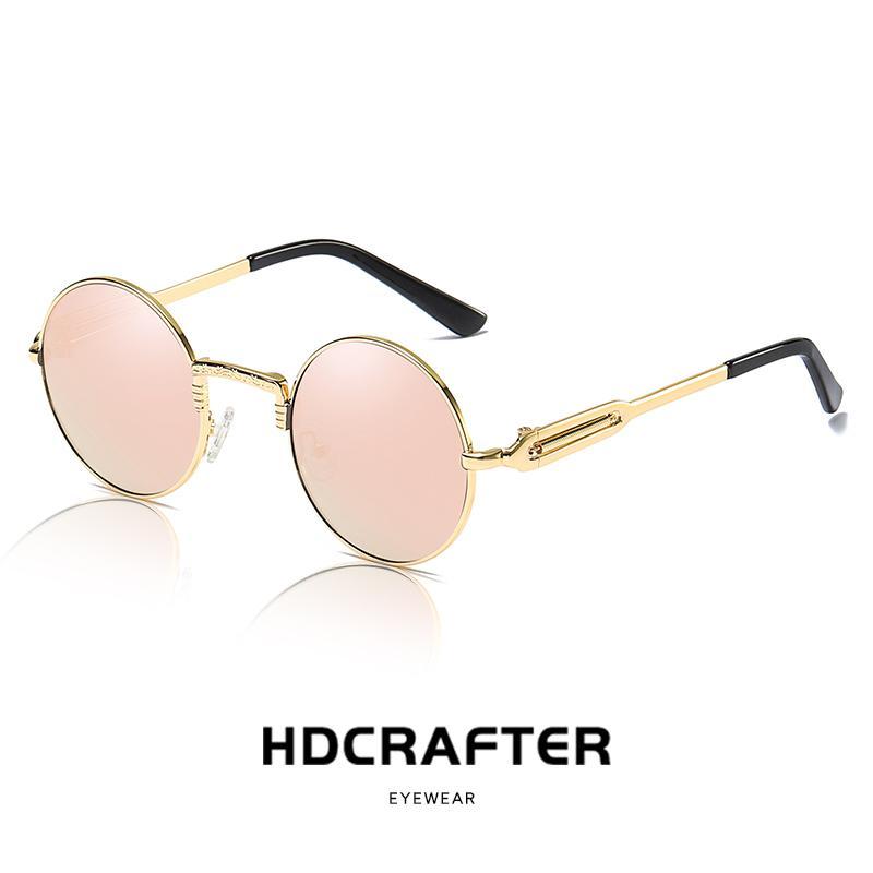 206b32015a7 2019 New Round Sunglasses Polarized Retro Men Women Brand Designer Sun  Glasses Vintage Coating Mirrored Oculos De Sol UV400 Sunglases Cheap  Designer ...