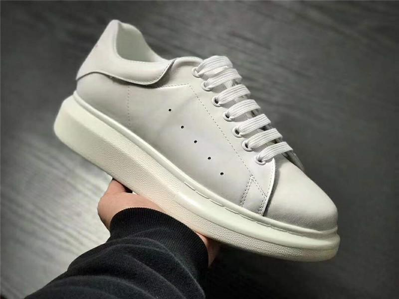 Blanches Luxe Wedo Chaussures Femmes Décontractées Blanc Hommes Noir Dame Rose Or Mc Cuir Baskets Mode Plateforme Qrhtds