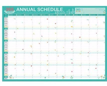 365 Calendar 2019 2019 2019 Planner 365 Day Calendars Plan Cute Cartoon Paper Plan