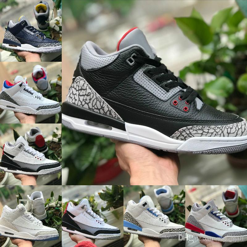 new products 5ce27 20553 2019 2019 3s Pure White 3 Mens Basketball Shoes New Tinker Katrina JTH Free  Throw Linell Chicago OG Royal Black Cement Sports Designer Sneakers From  My mall ...