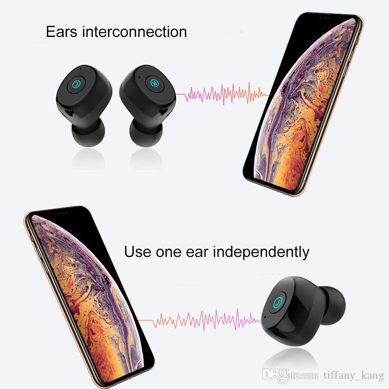 Ture Wireless AWEI T85 TWS business auricolare Bluetooth cuffie stereo 3D Microfono Bluetoot V5.0 con 1800mah power bank