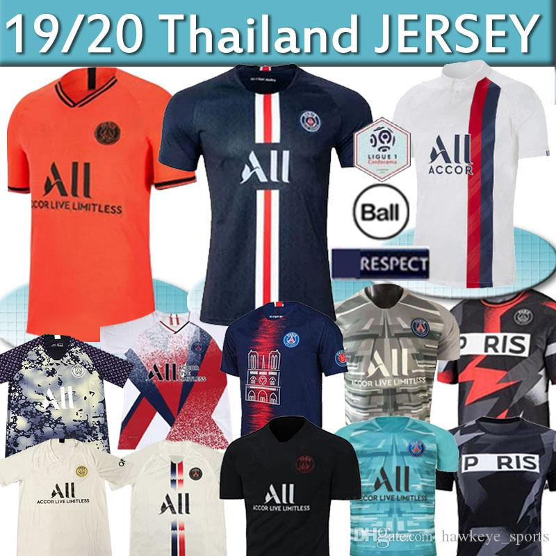 Maillots de foot 19 20 PSG soccer jersey New MBAPPE germain jersey camisetas football champions shirt men kids sets