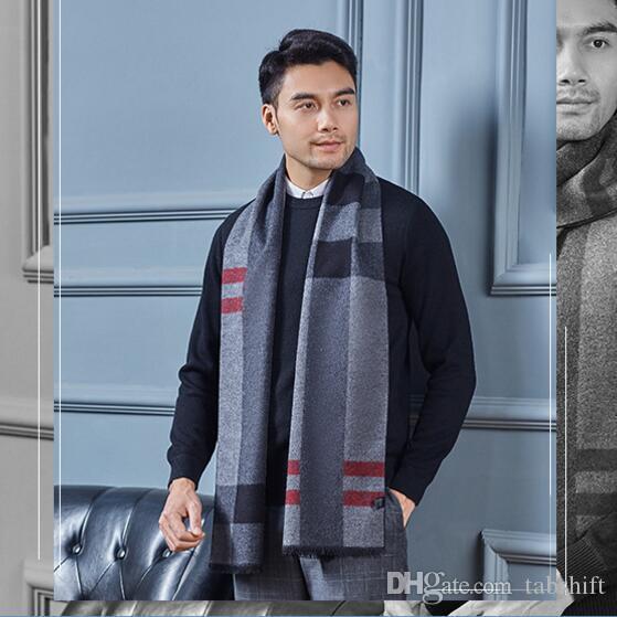 d79f4824e464c écharpe tendance pour homme en soie cachemire business foulard haut de  gamme 100% soie mulberry cou des hommes