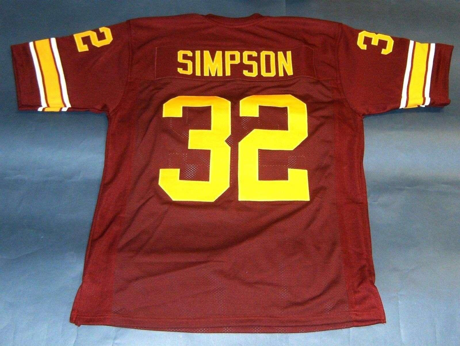 87d4186cc Cheap Retro  32 OJ SIMPSON CUSTOM USC TROJANS JERSEY HEISMAN NC Wine Red  Mens Stitching Size S 5XL Football Jersey NCAA UK 2019 From Xiaocai2017