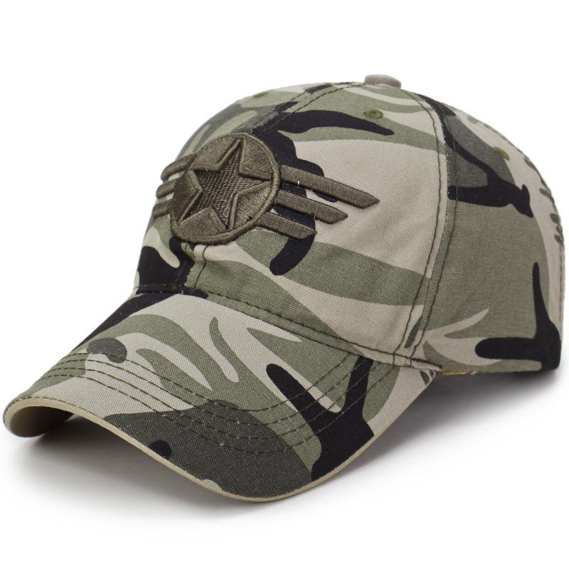 3f1f424f2f01f New Fashion Brand Camo Baseball Cap Luxury Star Embroidery Ball Hat ...