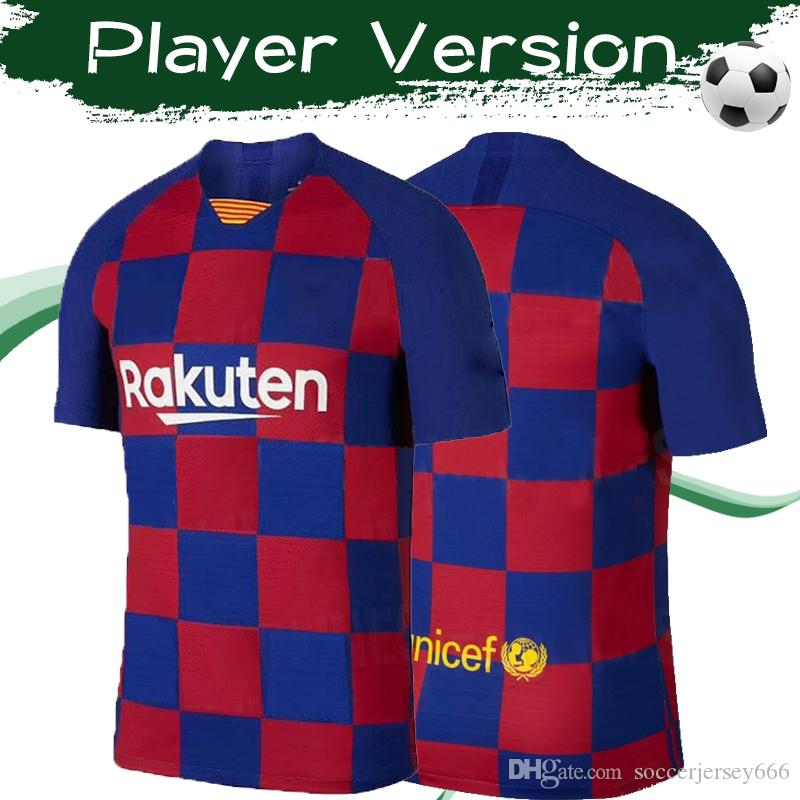 Player Version 2019 # 10 MESSI Heimtrikots 19/20 # 17 GRIEZMANN # 9 SUAREZ Fußballtrikots Maßgeschneiderte Fußballuniformen für Erwachsene Größe S-3XL