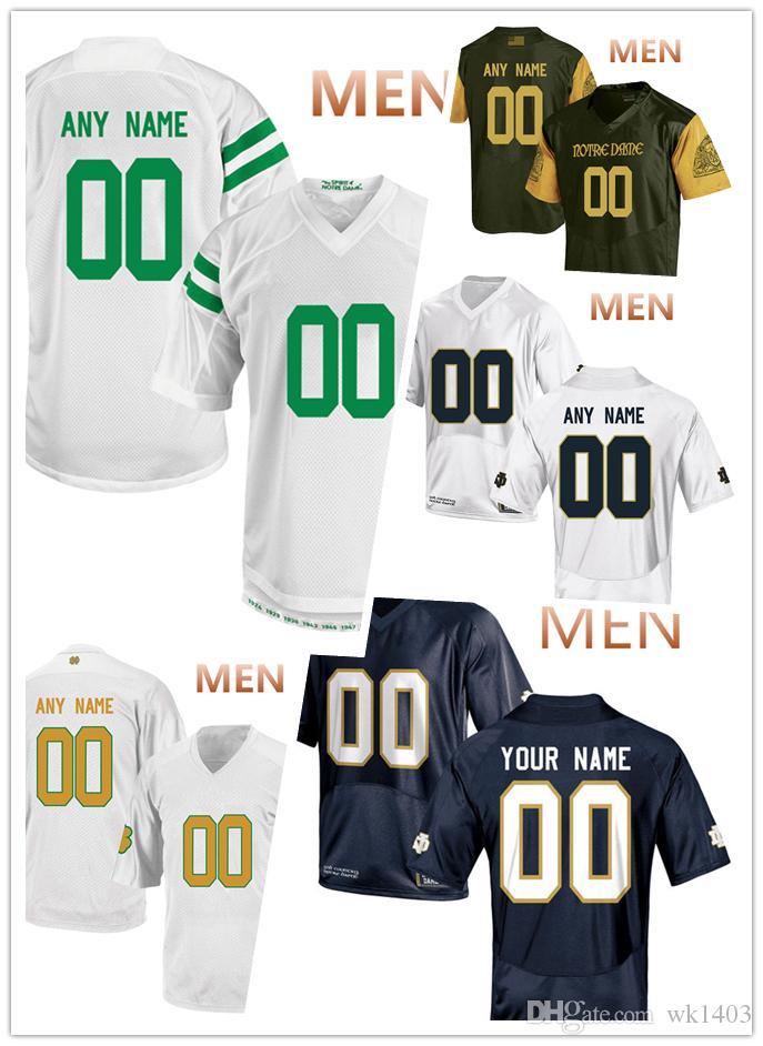 best loved f7314 b4e32 Notre Dame Fighting Irish jerseys Tevon Coney 4 Jorda Genmark Heath 2  Jonathan Jones 45 jersey MEN WOMEN YOUTH Olive Green blue White jersey