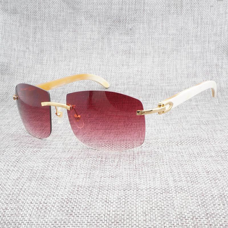 99b76b767d Retro Wood Oversize Sunglasses Men Natural Black Mix White Buffalo Horn  Rimless Eyewear Shades Frame For Outdoor Oculos Gafas Cool Sunglasses  Custom ...