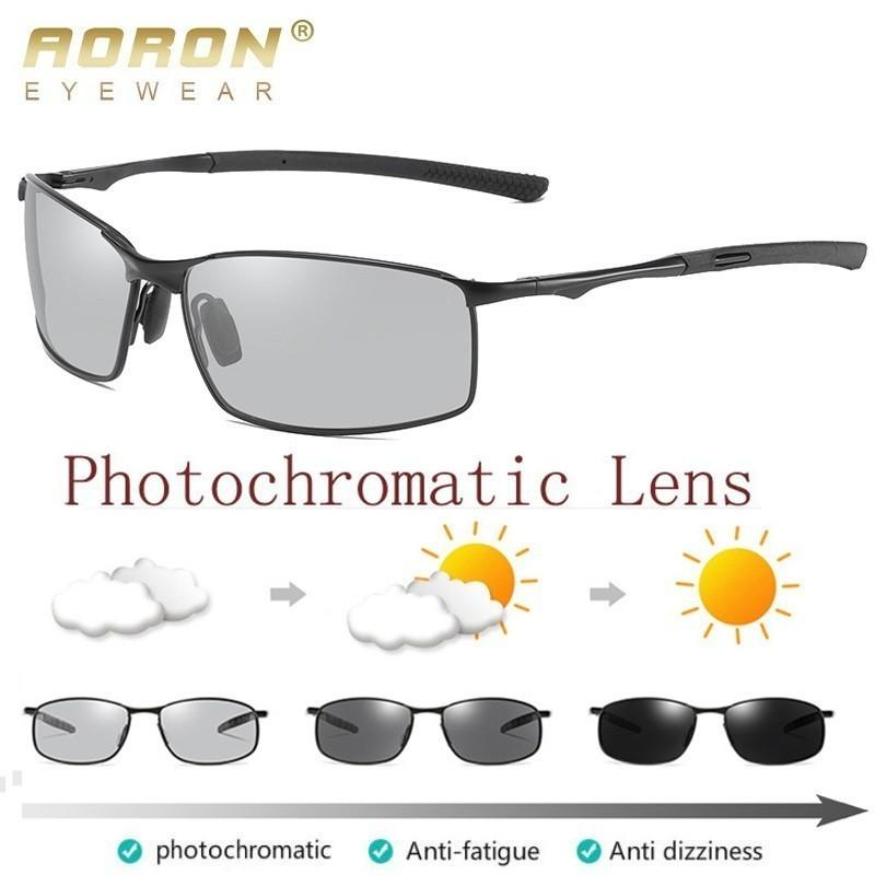 c0f6304730 Compre Gafas De Sol Polarizadas Fotocromáticas Para Hombre Lente De ...