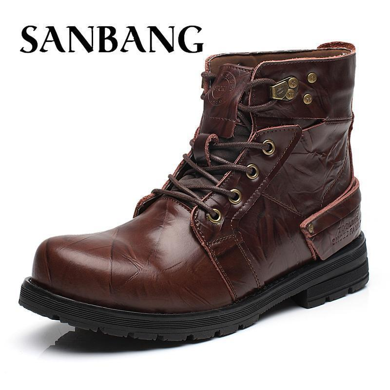 485cecd144c Brand Pop Popest Keep Warm Winter Boots Men High Quality Genuine Leather  Wear Resisting Casual Shoes Working Fashion Men Boots 5