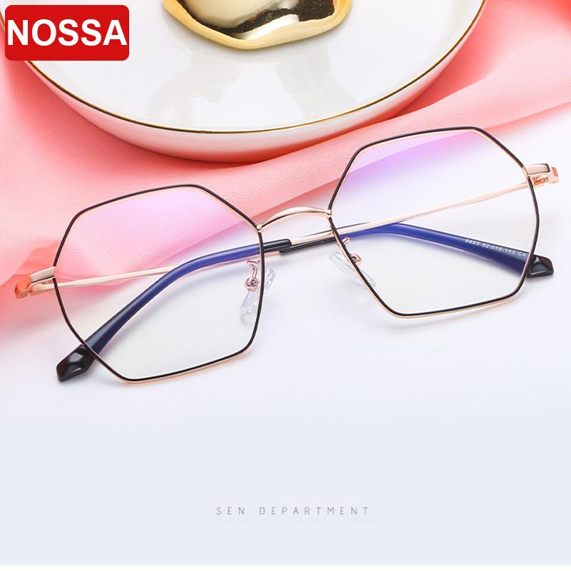 0381cceea8 2019 New Beautiful Full Frame Metal Retro Glasses Frame Personality ...