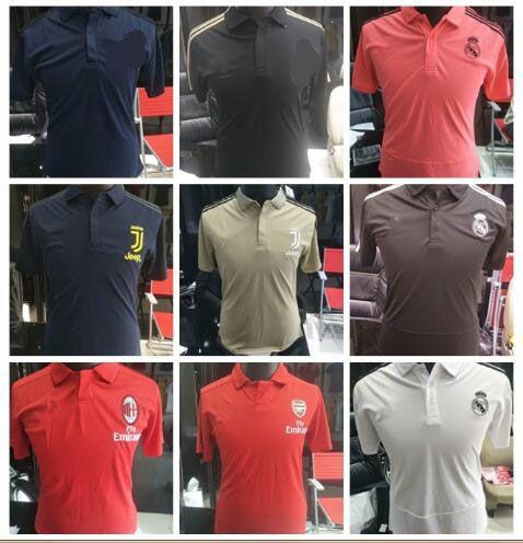2019 2018 World Cup Spain Soccer Jersey Polo Shirt PIQUE A.INIESTA ... 4c22e3110