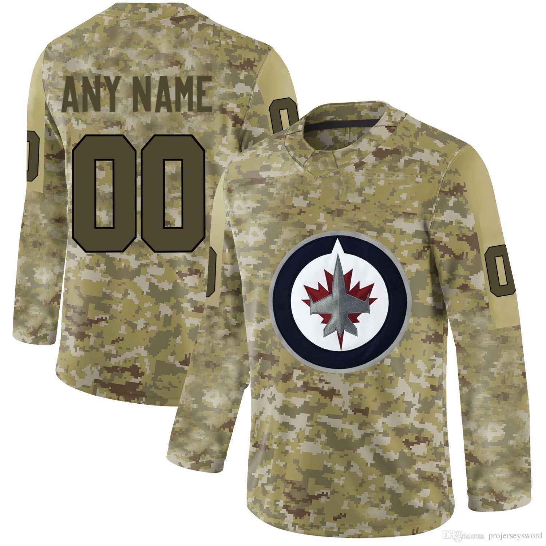 size 40 736c5 21879 Mens Winnipeg Jets Camo Jersey 55 Mark Scheifele 29 Patrik Laine 26 Blake  Wheeler 33 Dustin Byfuglien 30 Laurent Brossoit Hockey Jerseys