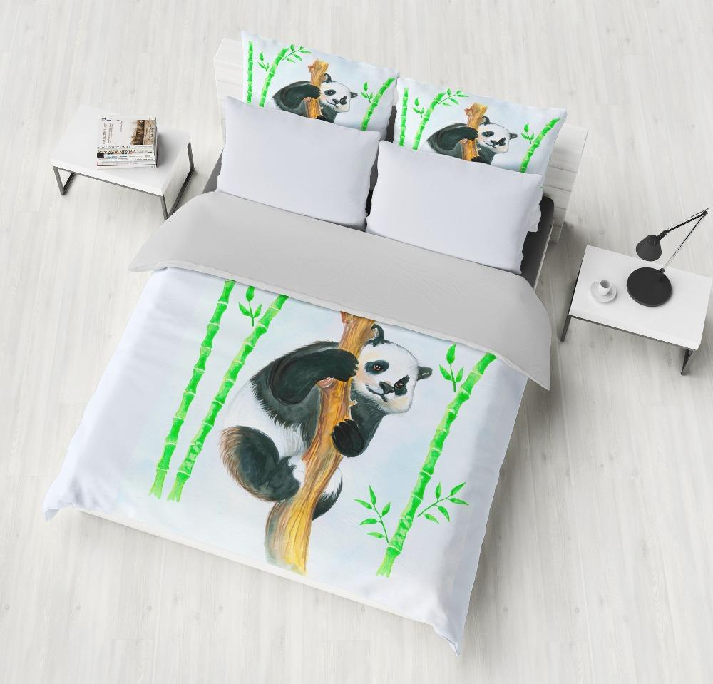 Grosshandel Schone Panda Bambus Bettwasche Sets Komfortable