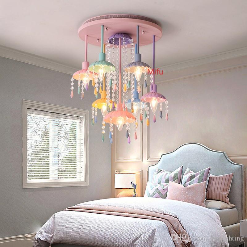 2019 neue Farbe Deckenleuchte Kreative Wohnzimmer Schlafzimmer Kristall  Deckenleuchten Amerikanischen Kinderzimmer Beleuchtung Nordic led Licht  Decke