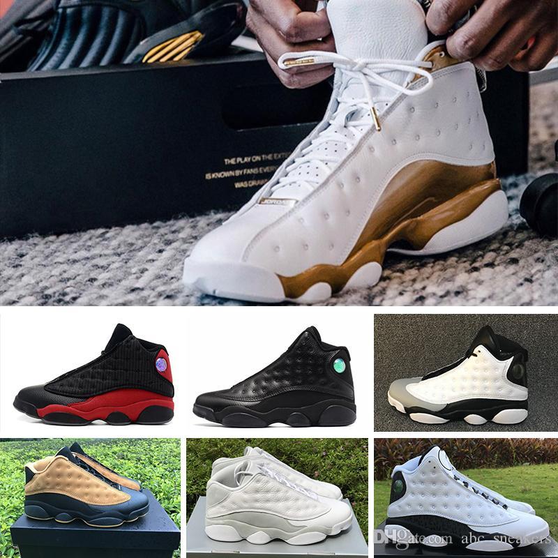 online retailer 50a3e c84c2 Großhandel NIKE Air Jordan 13 Retro 2018 Neue Top Qualität Air 13 13 S  Männer Damen Schuhe Gezüchtet Schwarz Braun Blau Weiß Hologramm Flint  Hornen G S ...
