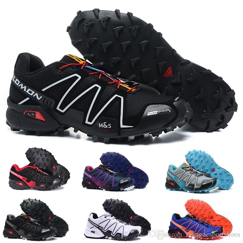 revendeur 5225b c6ad5 2019 Salomon Cross 3CS III Mens women running Shoes zapatos hombre Speed  Sport Sneakers Men Black outdoor athletic Speedcross Solomon Shoe