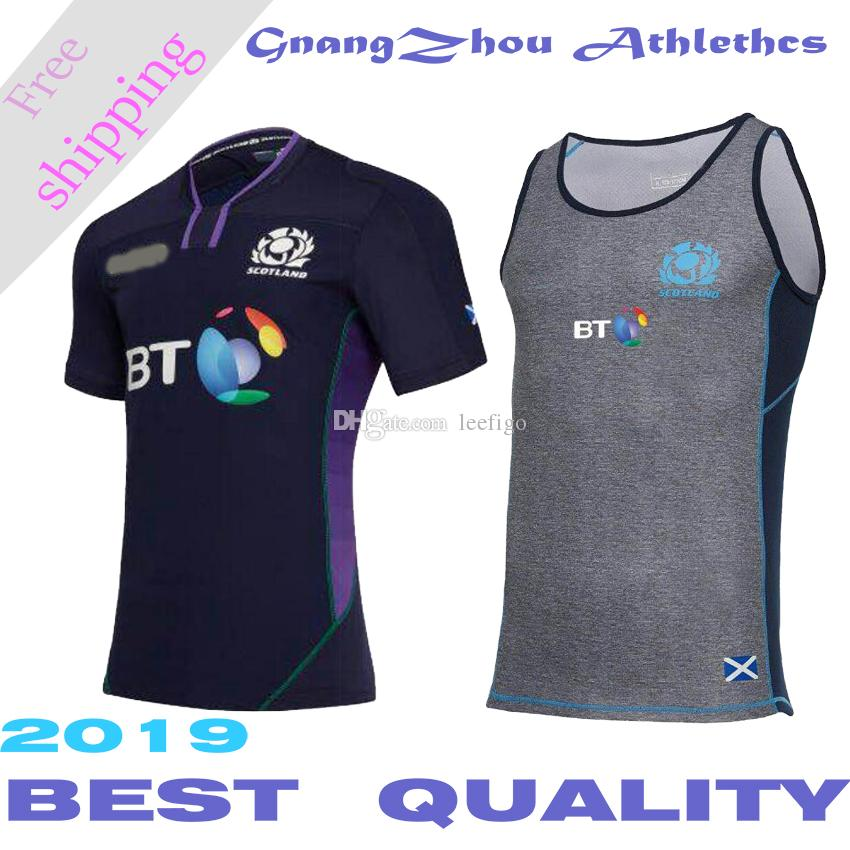 Best Quality new Scotland home Rugby Maglie SCOTLAND RUGBY HOME PRO CAMICIA BODY s-3xl