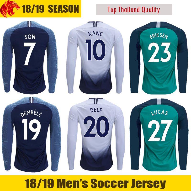 18 19 Tottenham Manga Larga Camiseta De Fútbol LUCAS TRIPPIER 2018 2019  Tottenham Hotspur LAMELA KANE Manga Larga Camiseta De Fútbol SON Tottenham  DELE ... c68898d85ba39