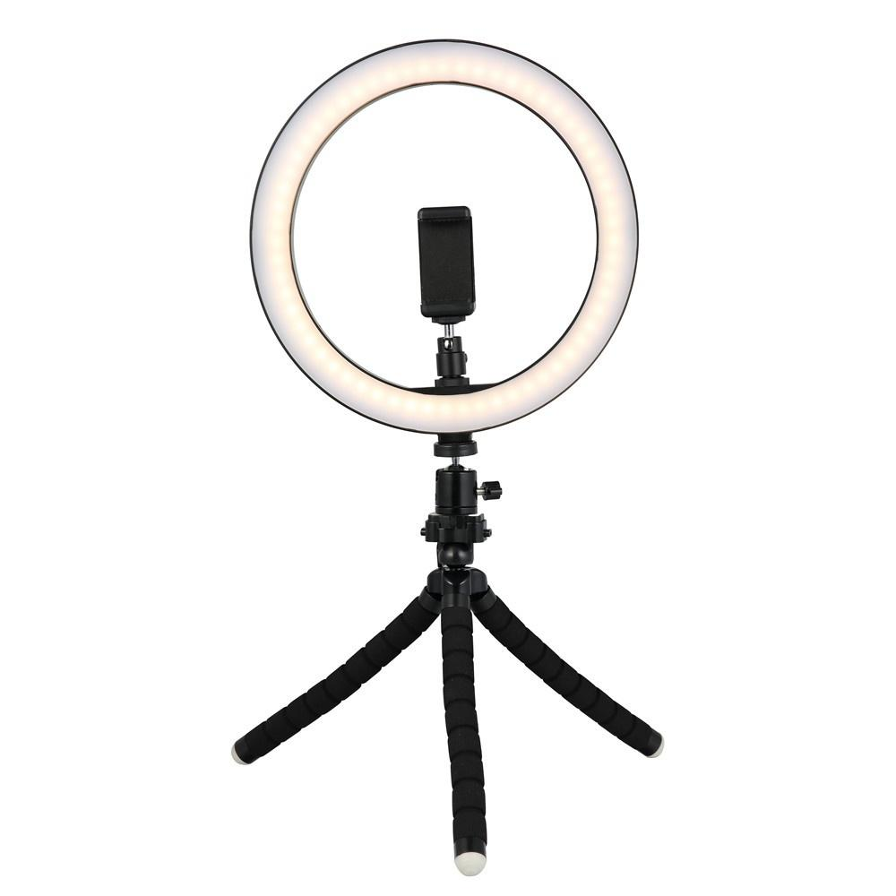 Tycipy 26cm Selfie LED Ring Light مع ميني ترايبود حامل حامل الهاتف لفون XS MAX 8 7 6 Plus Smart Photography Photography Makeup