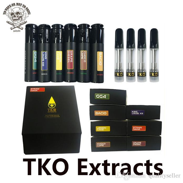 TKO Extracts Vape Cartridges Packaging Cookies Carts 0.8ml 1ml Ceramic Empty Vape Pen Cartridge E Cig Vaporizer For Thick Oil 510 Battery