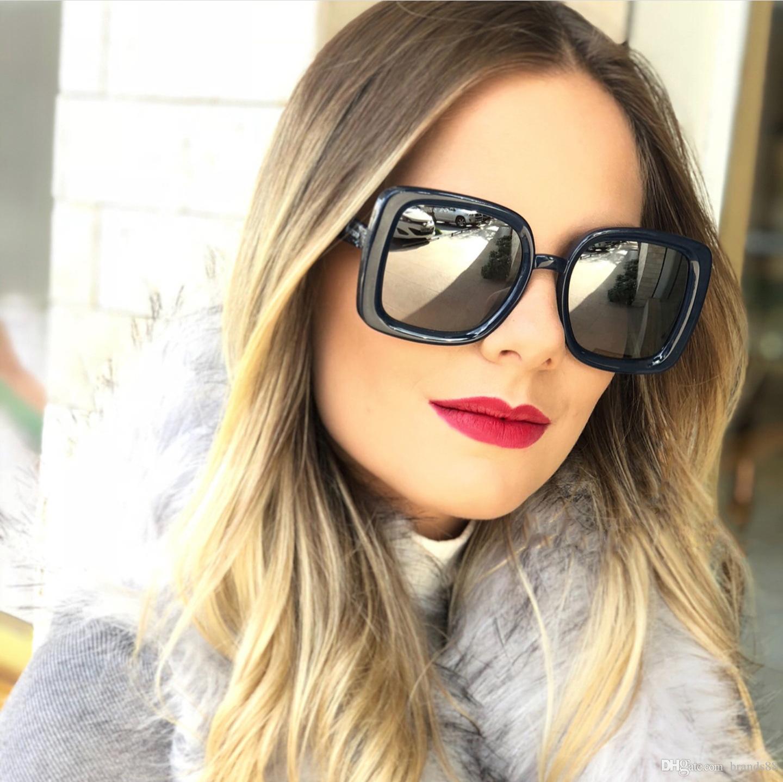 51c153aab1 Big Frame Gradient Shades Oversized Sunglasses Square Brand Designer Vintage  Women Fashion Sun Glasses Oculos De Sol UV400 Vintage Sunglasses Super ...