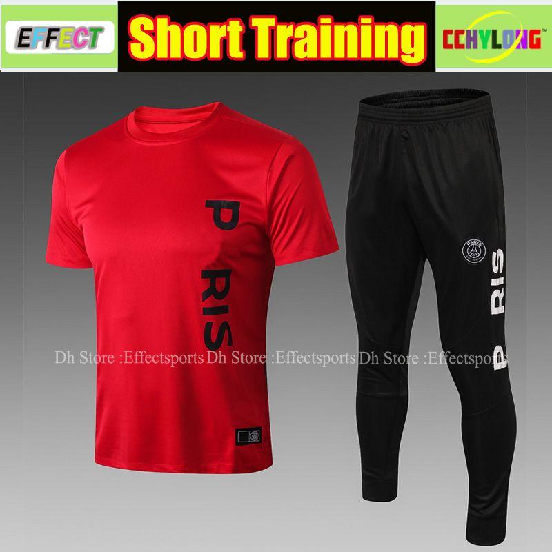 c7725c6869b 2019 Thailand PSG Short Sleeve Training Suit Kit 2018 2019 Men Sets MBAPPE Tracksuit  Maillot De Foot Football Shirts Soccer Sweater From Effectsports