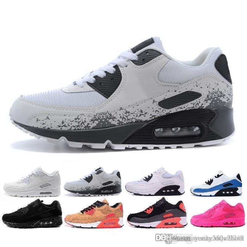 Nike Air Max 90 Multicolore Vente en gros 2019 hommes et femmes de haute qualité 90 ultra coussin d air coussins d air Original Chaussures Casual