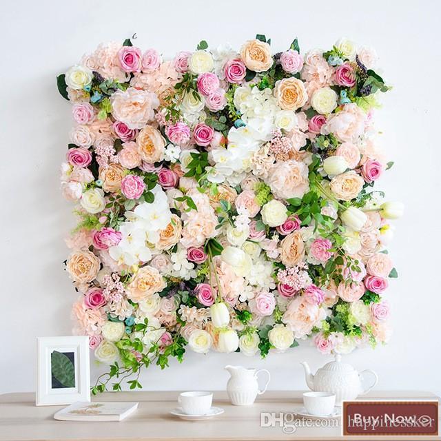 Grosshandel 1m 1m Kunstliche Blume Hochzeit Dekoration Hintergrund
