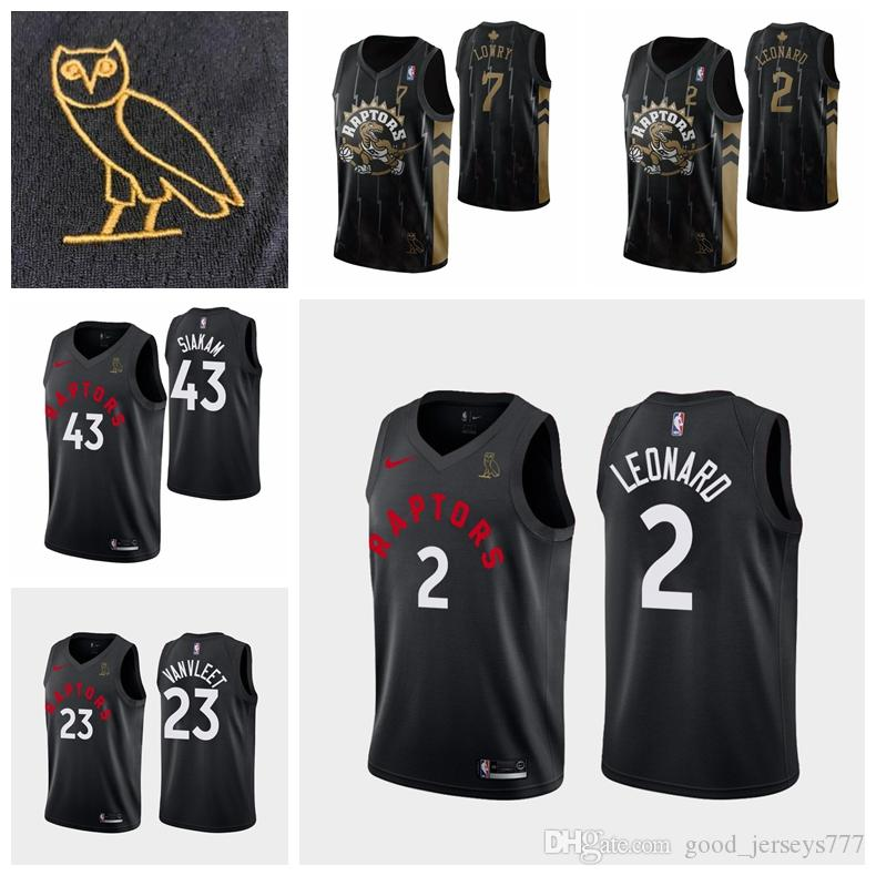 cheap for discount 10a42 46f7d Toronto Basketball Raptors X OVO Raptors Jersey 2# Kawhi Leonard 23#  Vanvleet 43# Pascal Siakam 7# Kyle Lowry Stitched Shirt