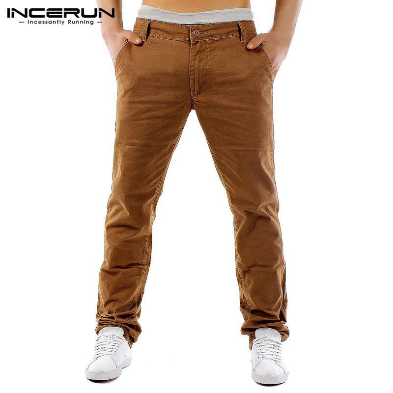b3fbaeb70a5ce Compre Clásico 2019 Pantalones De Vestir Chinos Pantalones Hombre Moda  Cargo Caqui Pantalones Slim Fit Casual Pantalon Masculina Ropa A  28.5 Del  Caicloth ...